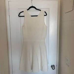 Theory Cream Knit Flare Dress